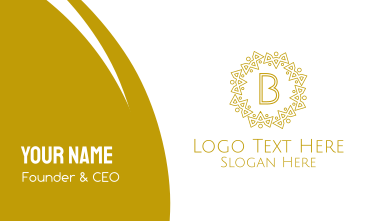 Luxurious Royal Lettermark Business Card