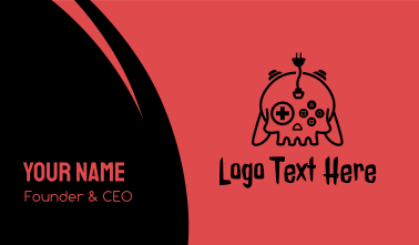 Death Skull Esports Business Card