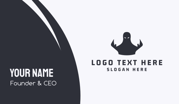 demon - Dark Ghost Business card horizontal design