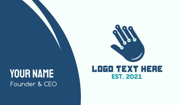 finger - Technological Hand Business card horizontal design