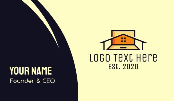 workplace - Remote Home Job Business card horizontal design