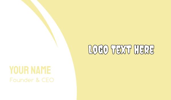 beige - White Wash Business card horizontal design