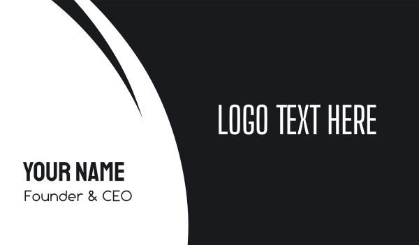 edgy - Tall & Edgy Business card horizontal design