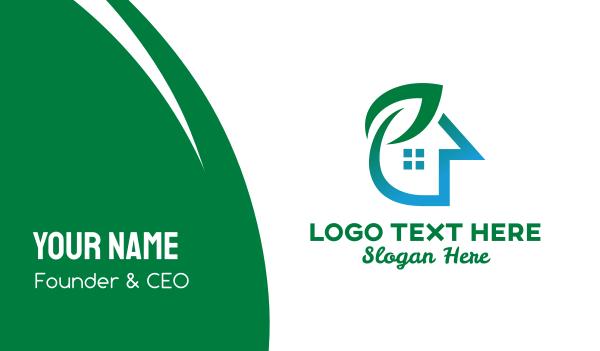 asset - Plant Real Estate Business card horizontal design
