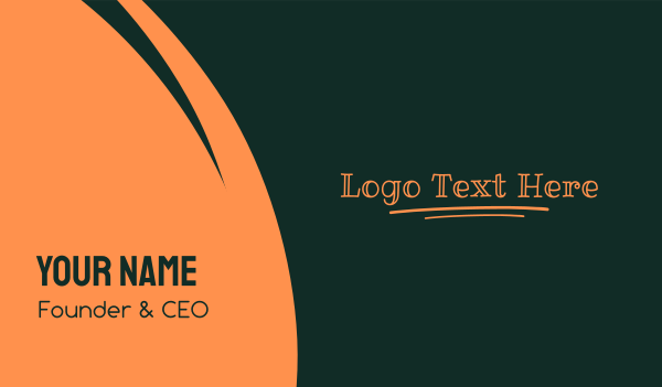 lesson - Kid Writing Wordmark Business card horizontal design