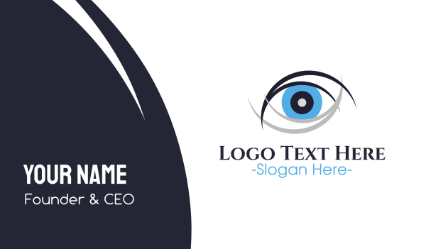 surveillance - Eye Care Clinic Business card horizontal design