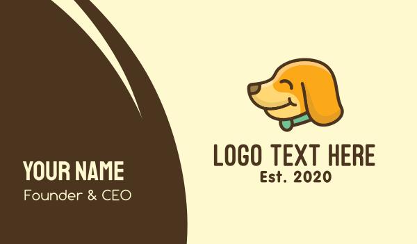 whelp - Happy Dog Puppy Business card horizontal design