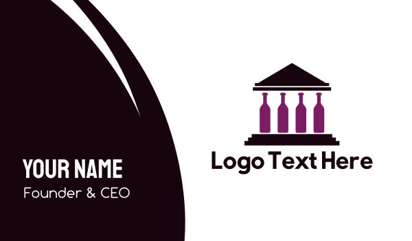 event management - Legal Wine Bottle Building Business card horizontal design