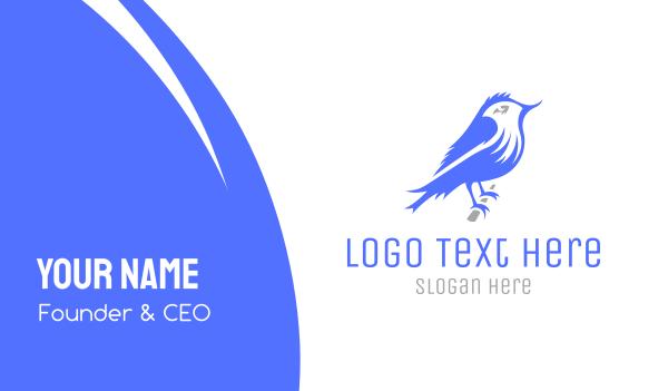 love birds - Sparrow Bird Business card horizontal design