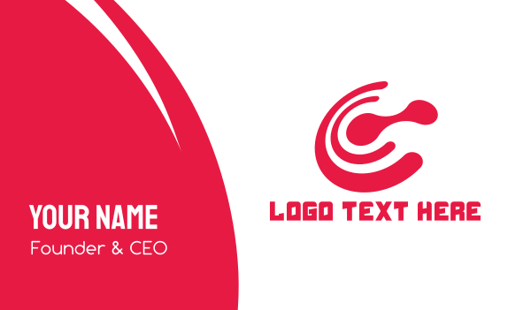 data transfer - Red C Connect Business card horizontal design