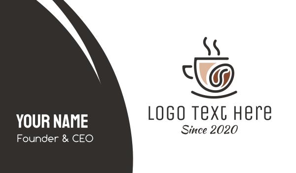 coffee bean - Coffee Bean Cafe Business card horizontal design