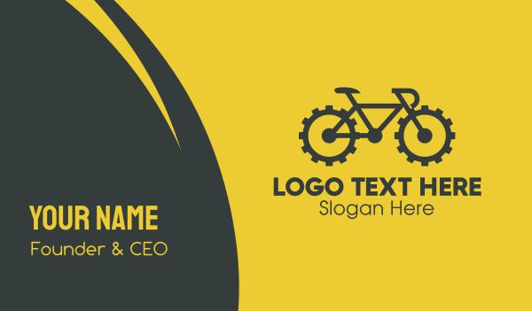 cyclist - Bike Gear Reparation Business card horizontal design