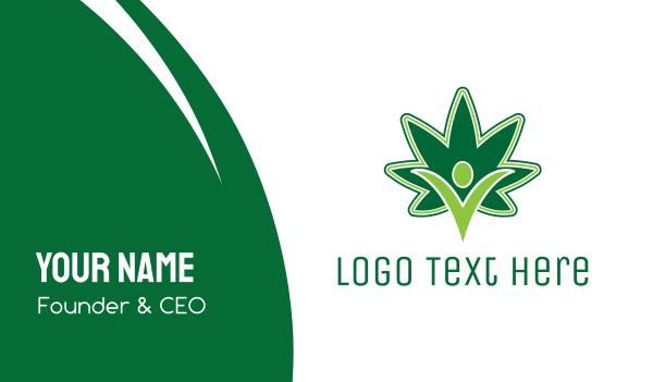 dispensary - Marijuana Power Business card horizontal design