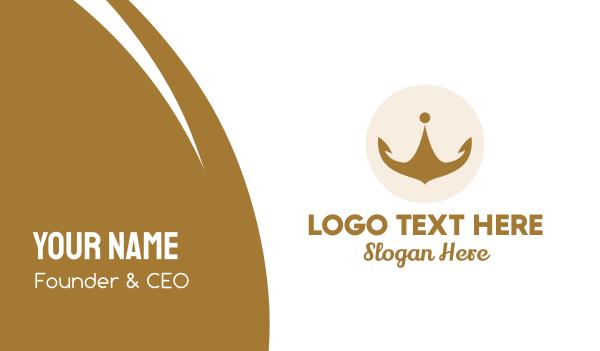 hospitality - Golden Crown Emblem Business card horizontal design