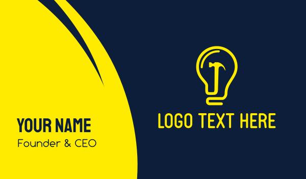 hammer - Creative Workshop Business card horizontal design