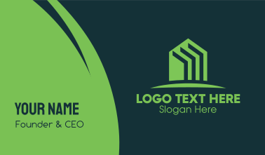 Green Home Realtor Business Card