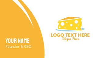 Yellow Cheese Cake Business Card