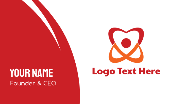 research - Atomic Heart Business card horizontal design