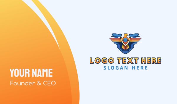 politics - Eagle Emblem Business card horizontal design