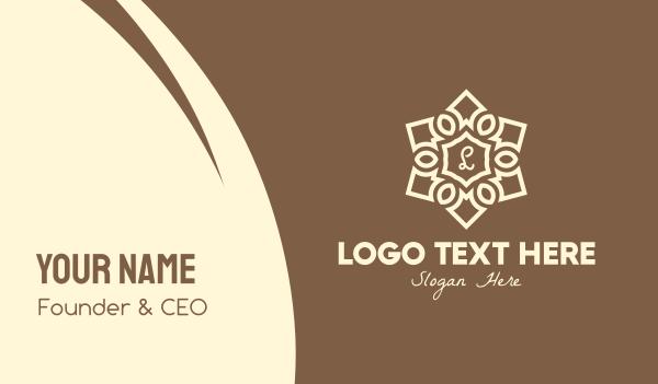 hinduism - Elegant Mandala Lettermark Business card horizontal design