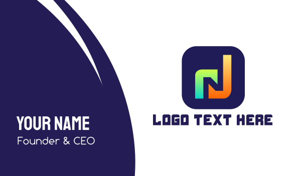 music player - Music App N Business card horizontal design