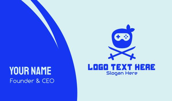 online gamer - Ninja Gaming Console  Business card horizontal design