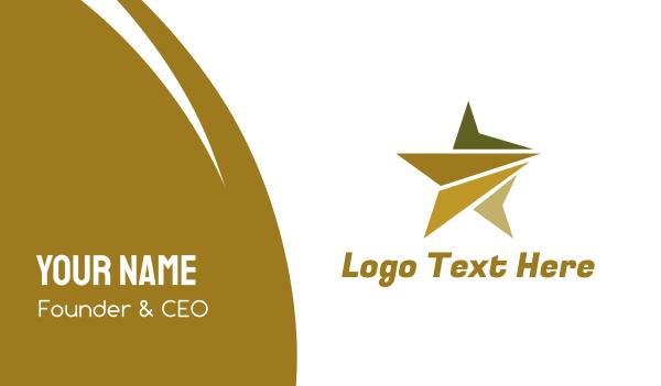 universe - Polygon Star Business card horizontal design