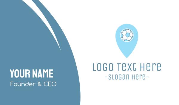 locator - Soccer Ball Pin Business card horizontal design