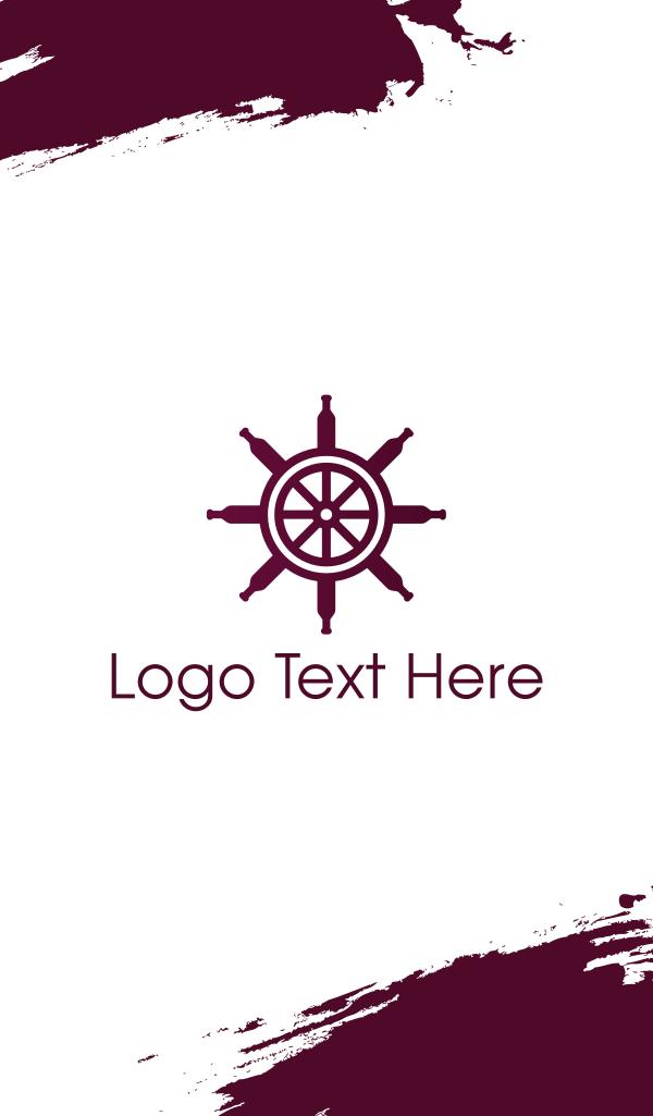Wine Ship Wheel Helm Business Card