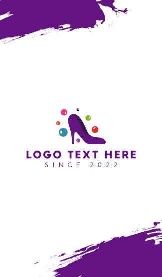 Purple Fashion Stiletto Business Card