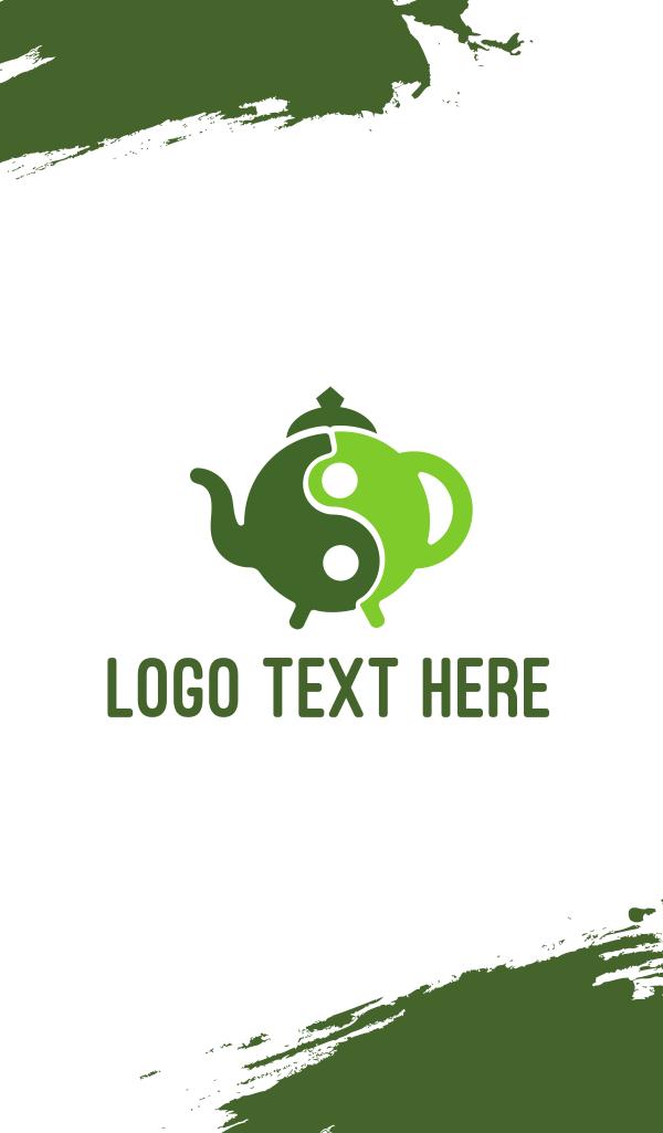 Yin Yang Green Tea Business Card