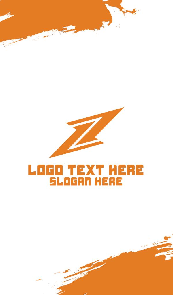 Lightning Bolt Business Card