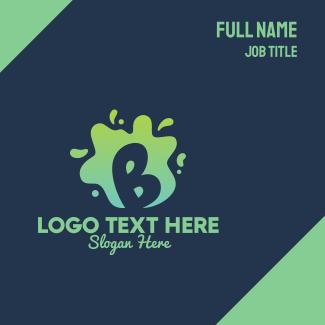 Liquid Slime Letter B Business Card