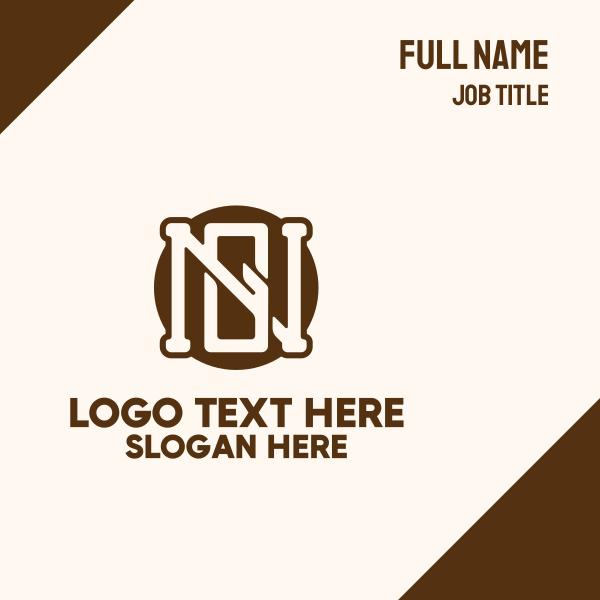 N & G Monogram Business Card