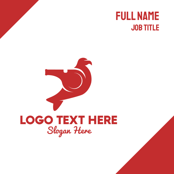 Red Whistle Bird Business Card
