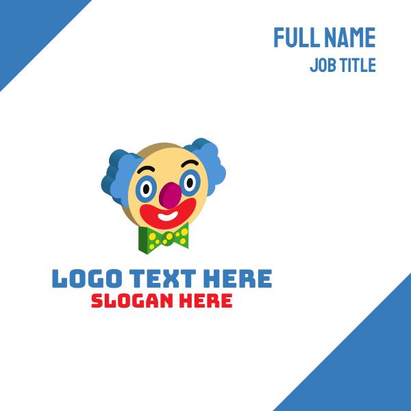 3D Clown Face Business Card