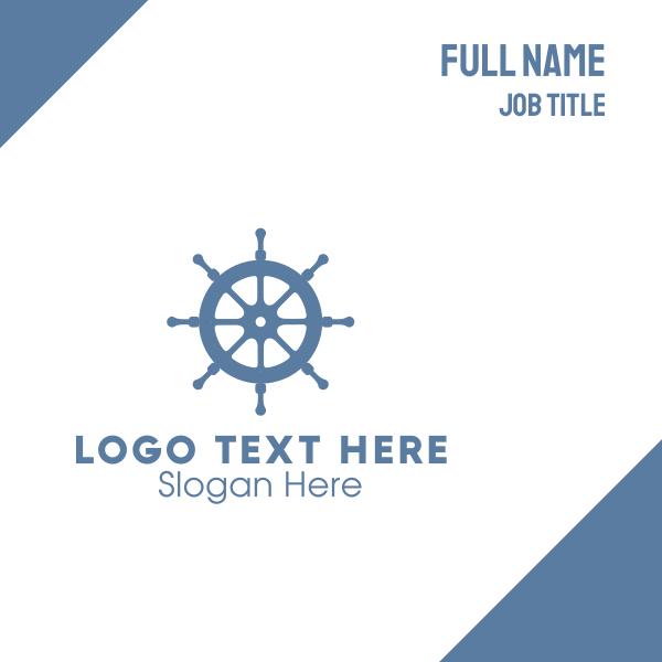 Ship Wheel Helm Business Card