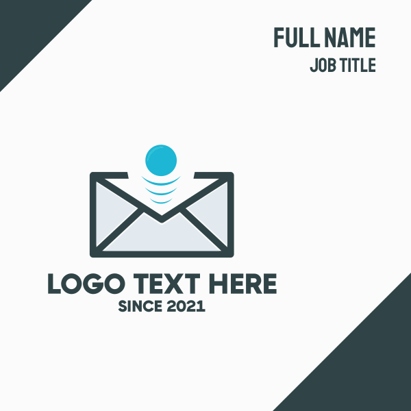 Email Bounce Business Card