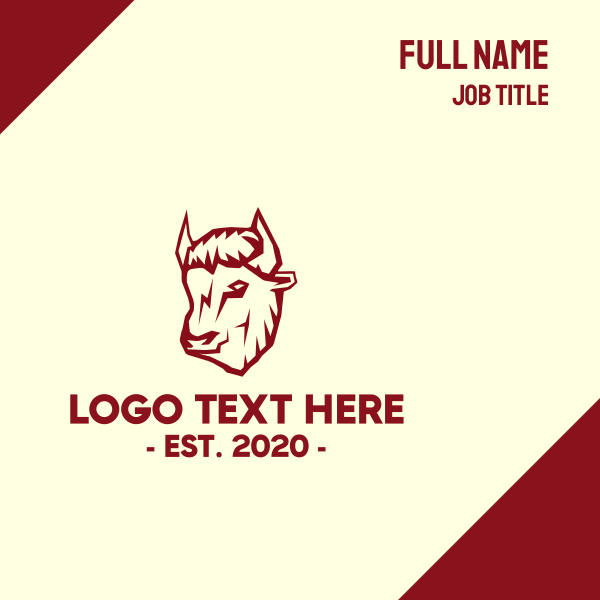 Red Bison Business Card