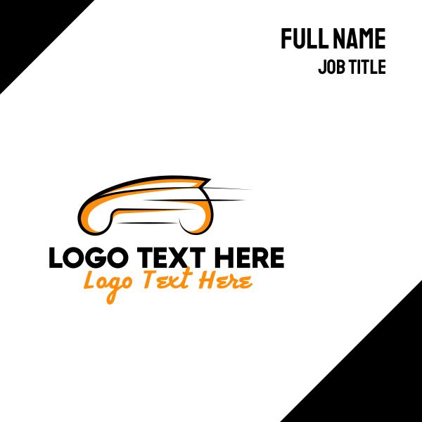 Orange Fast Car Business Card
