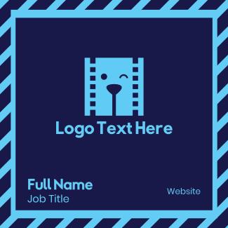 Filmstrip Dog Video Business Card