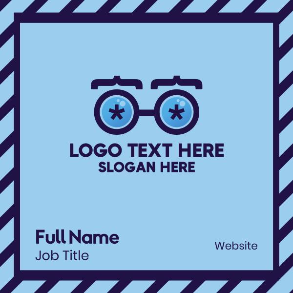 Coder Eyeglasses Business Card