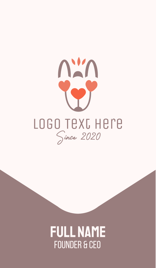 Animal Love Business Card