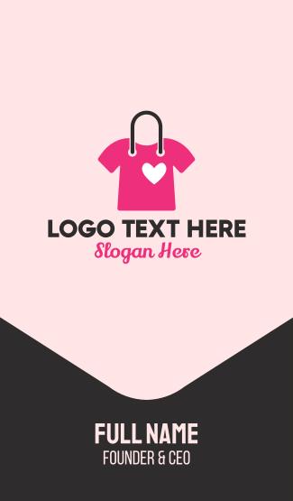 Pink Lovely Shirt Business Card