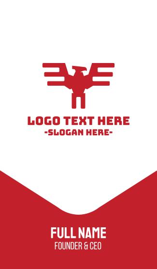 Mechanic Automotive Red Eagle Business Card