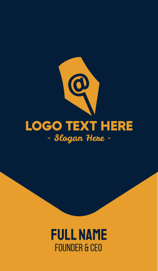 Online Writing Business Card