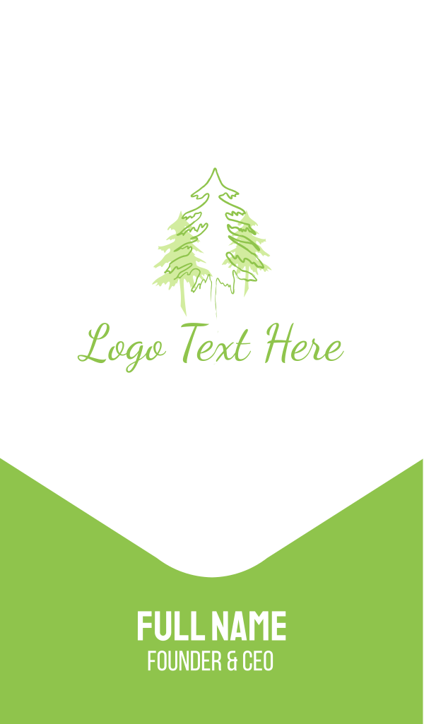 Three Green Pines Business Card