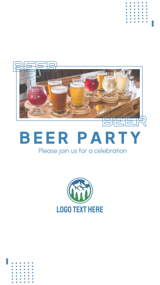 Beer Party Facebook story