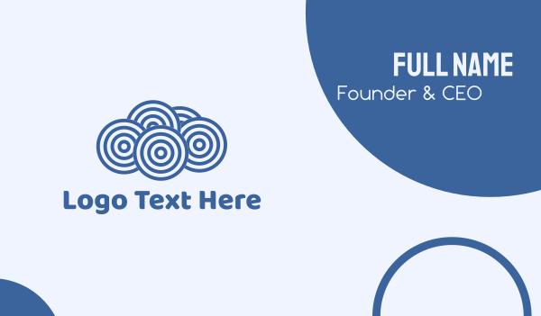 soundcloud - Blue Cloud Circles Business card horizontal design