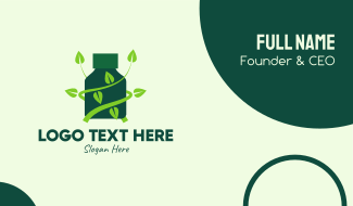 Green Alternative Tonic Business Card